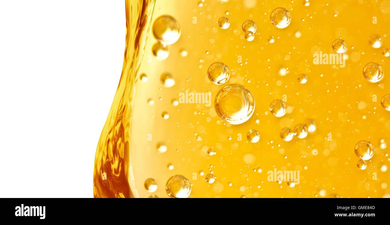 Öl-Hintergrund. Welle Senkrecht Aus Gelbe Flüssigkeit Mit