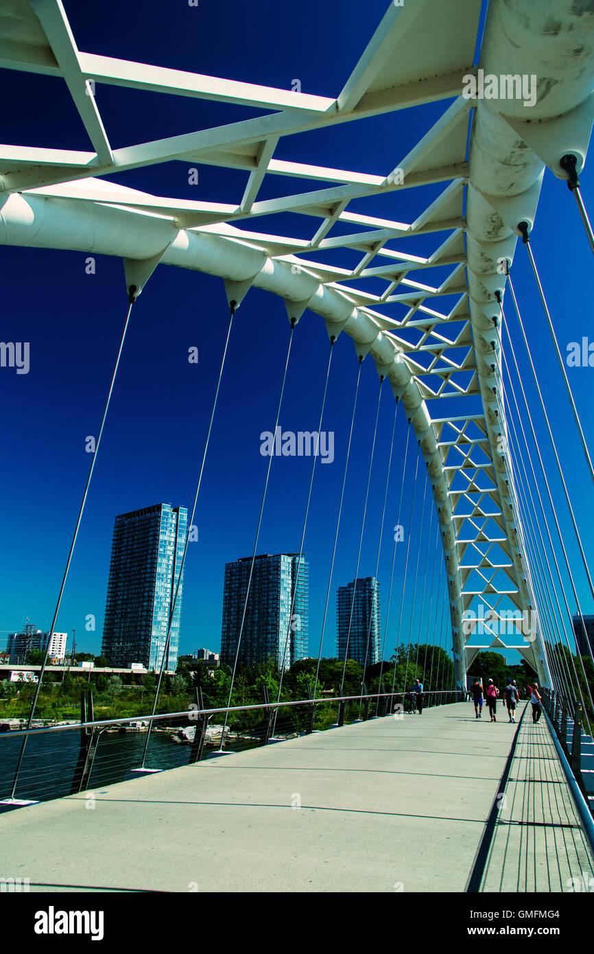 Humber Bay Bogenbrücke Toronto Ontario Kanada Stockbild
