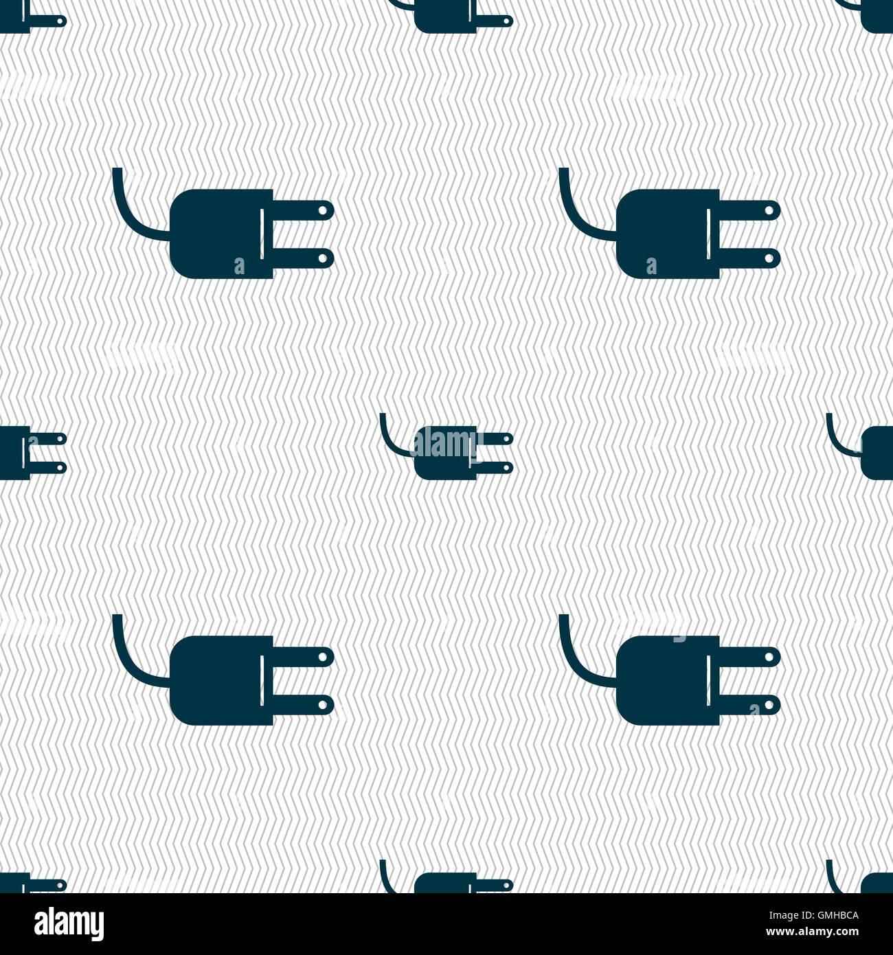 Elektrische Stecker Zeichen Symbol. Power-Energie-Symbol. Nahtlose ...