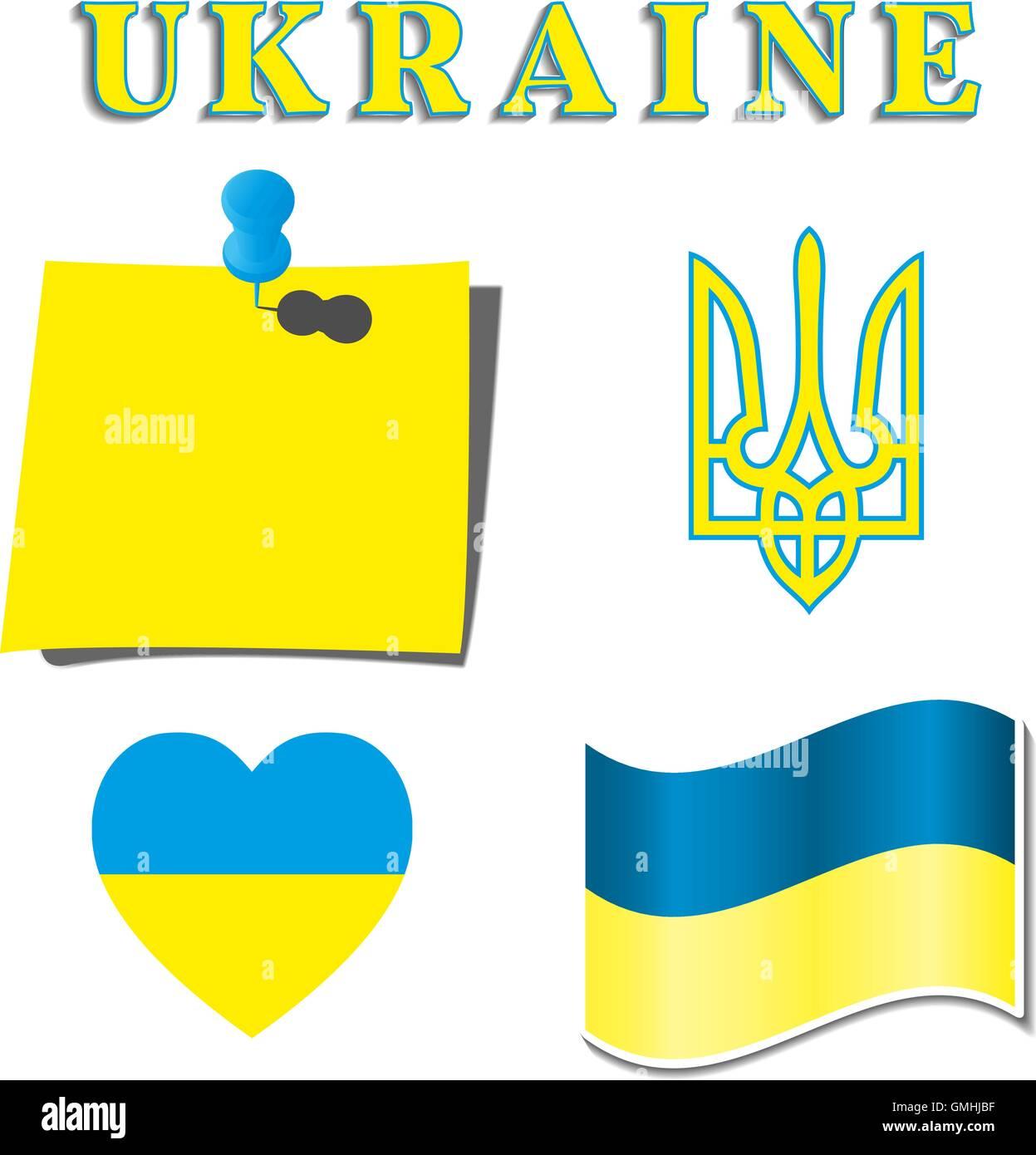 Eingestellt von ukrainischen Symbolik, Vektor-illustration Stockbild