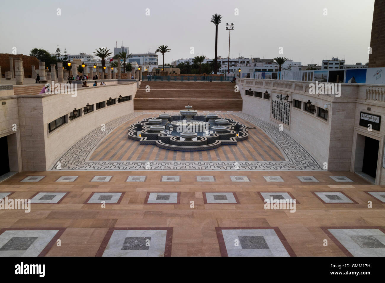Platz in der Nähe der Hassan-Turm, Rabat, Marokko Stockbild