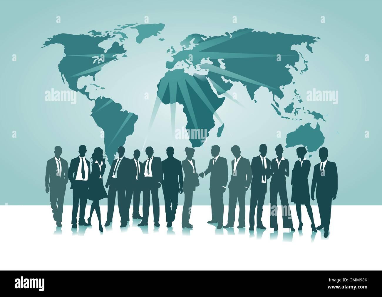 Weltweite Verbindung Stockbild