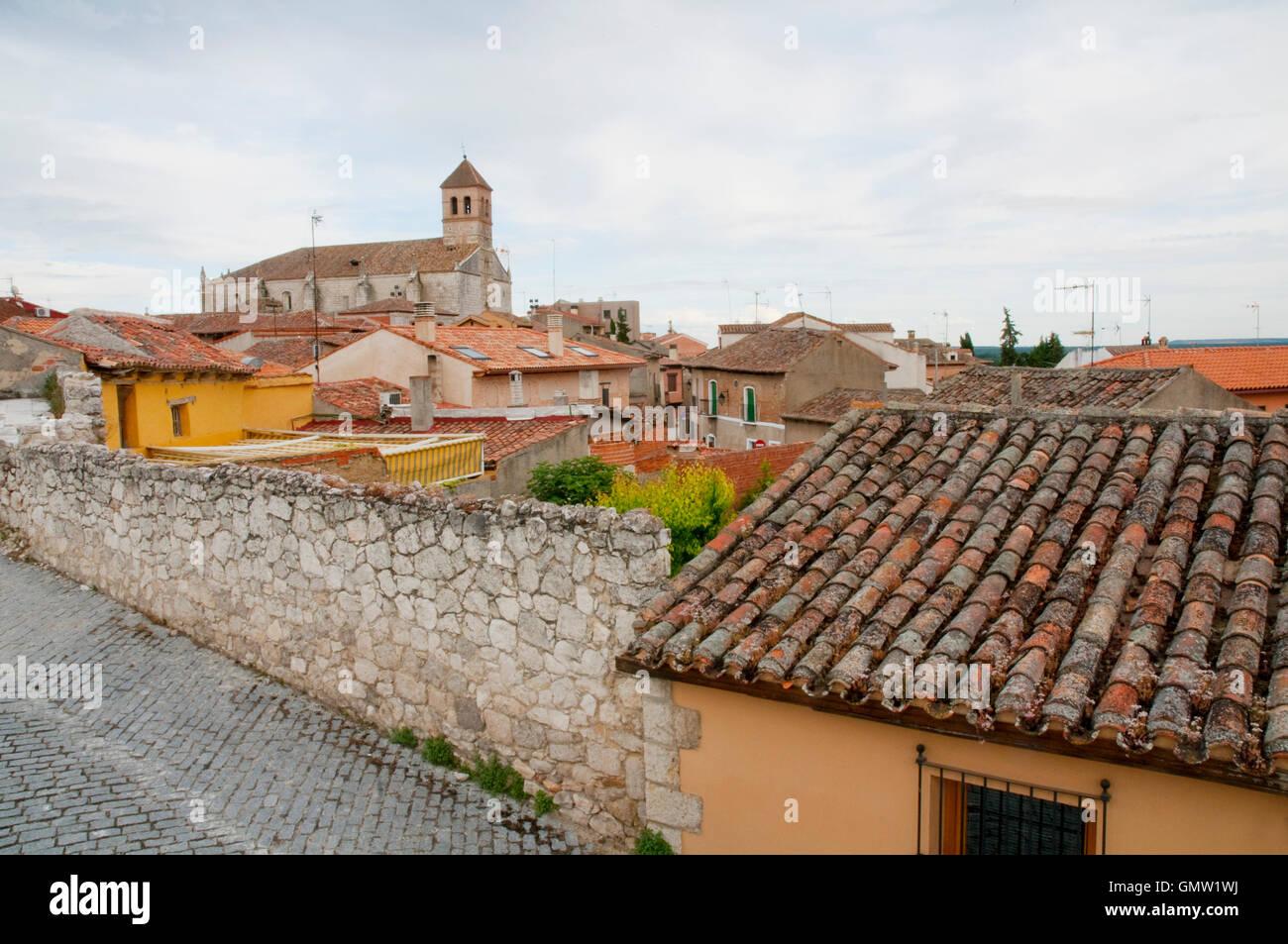 Allgemeine Ansicht. Simancas, Provinz Valladolid, Kastilien-Leon, Spanien. Stockbild