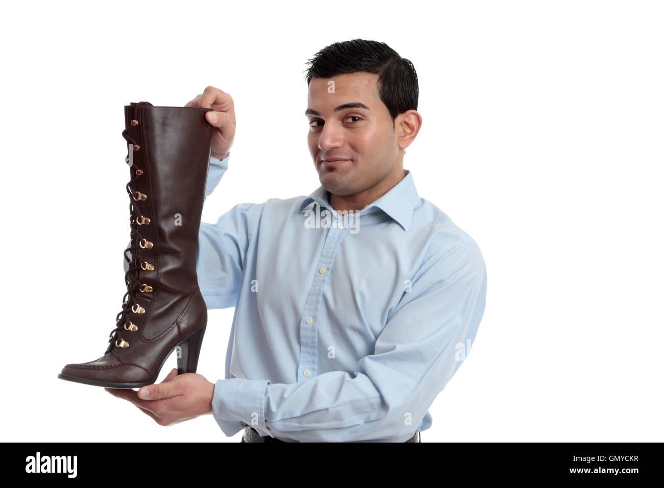 Lächelnde Einzelhandelskaufmann Stockfoto Bild 116157995 Alamy