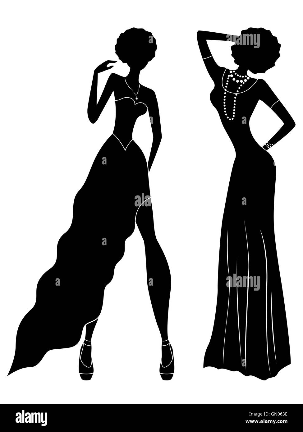 Gown Vectors Stockfotos & Gown Vectors Bilder - Alamy