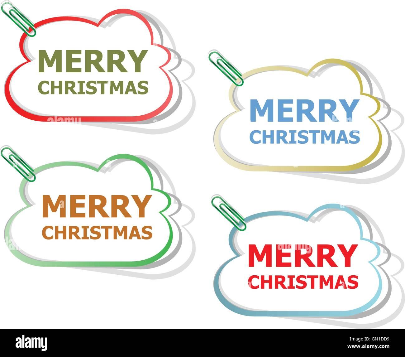 Frohe Weihnachten Aufkleber. Kreativkonzept Vektor Hintergrund für ...