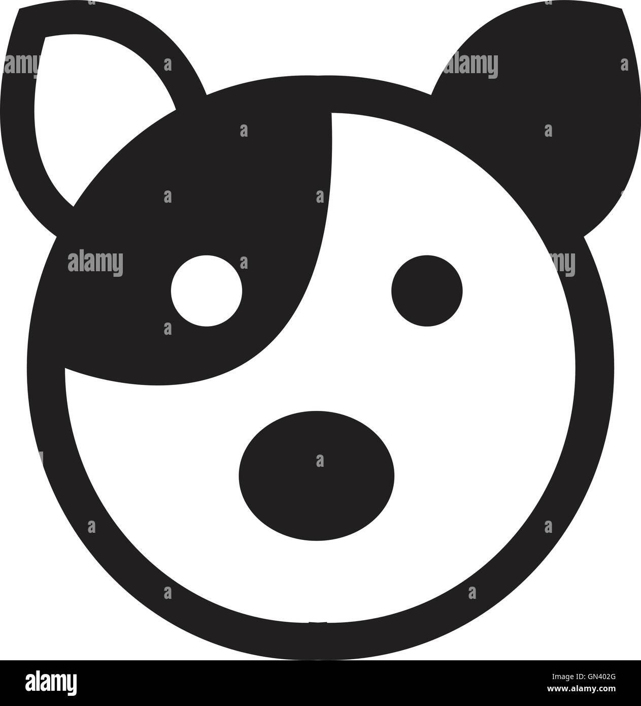 Hund-Avatar-Symbol Stockbild