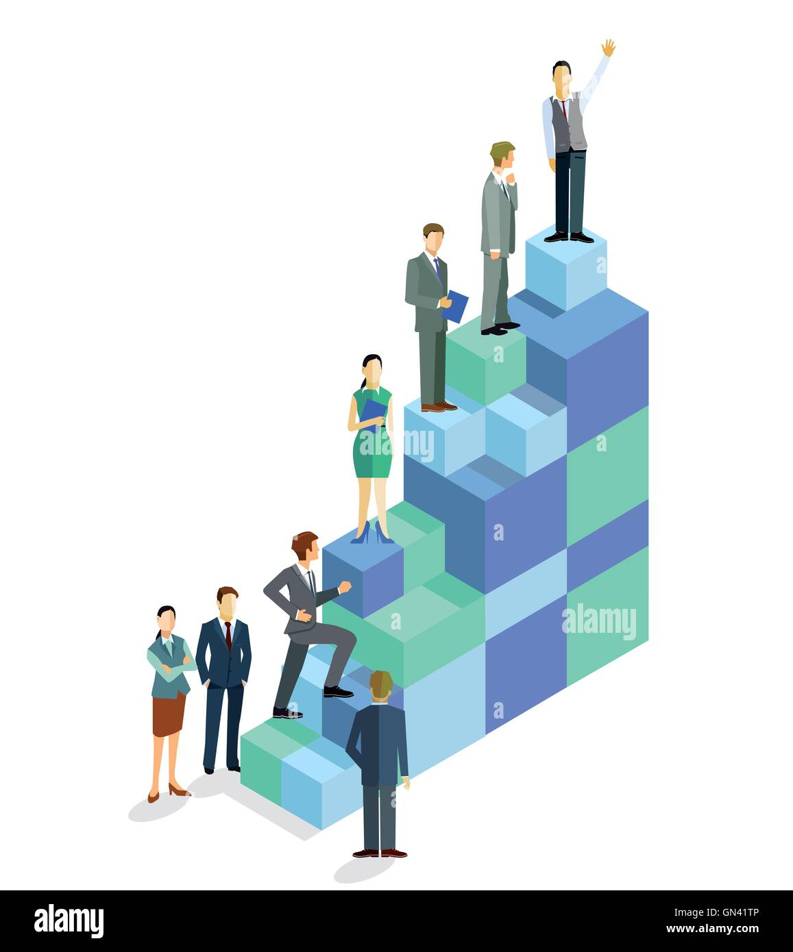Erfolg-Aufstieg Stockbild