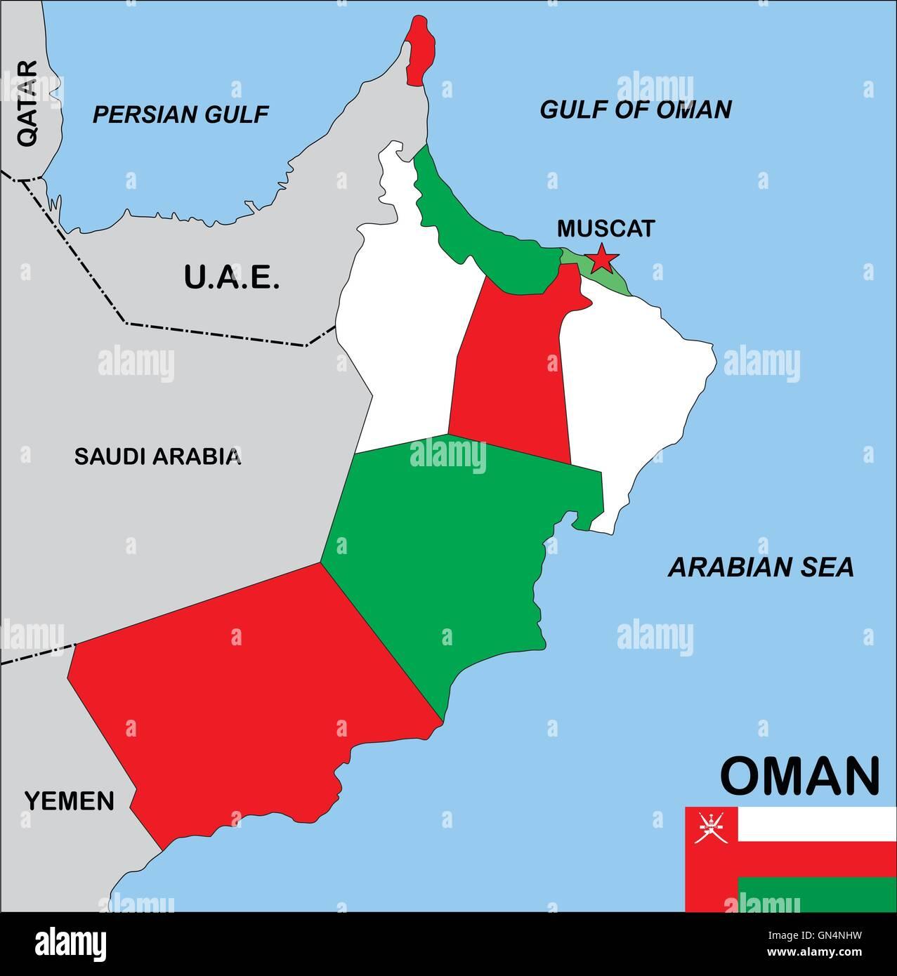Karte Oman.Oman Karte Stockfoto Bild 116274757 Alamy