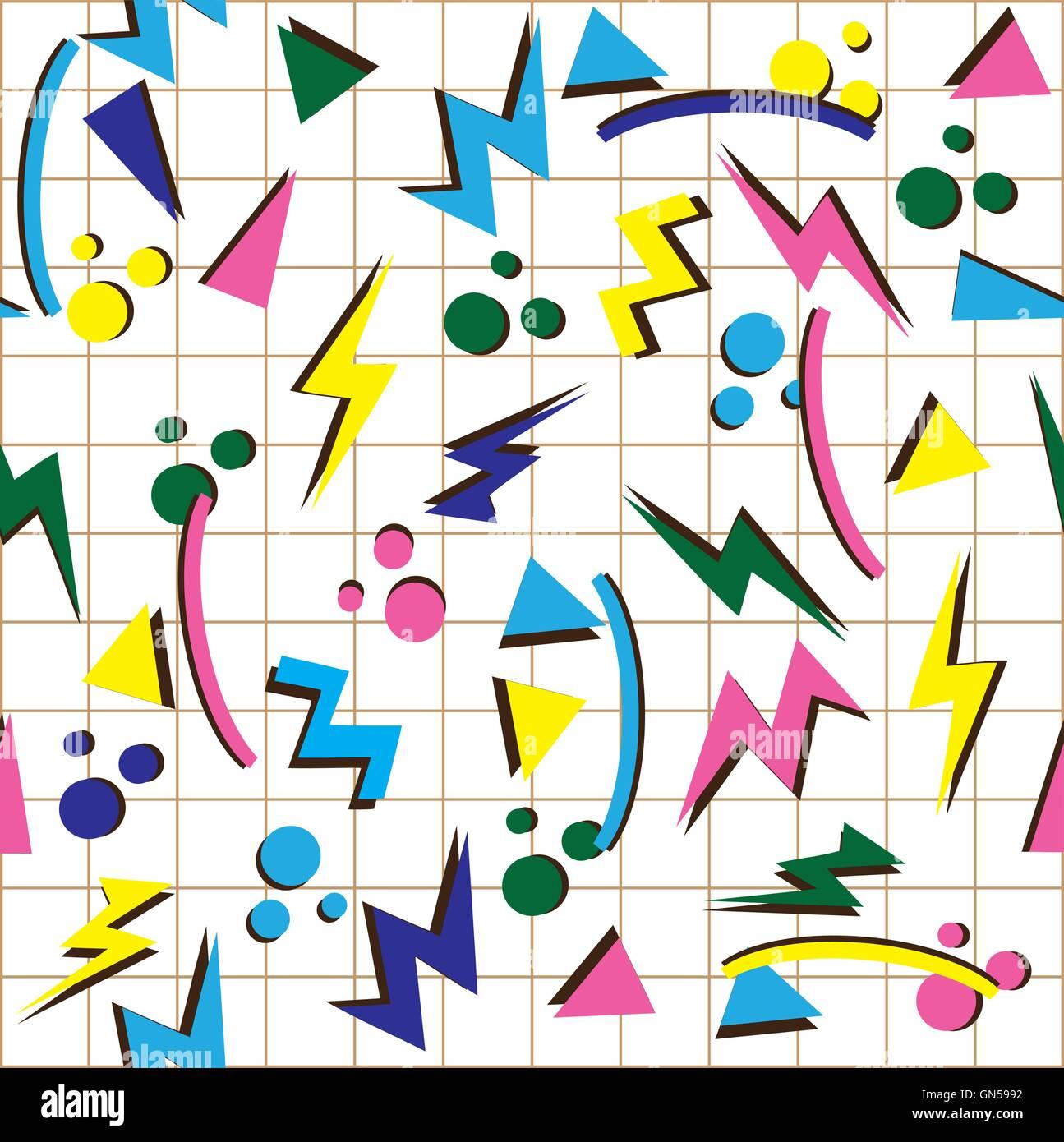 80er Jahre Hintergrund Stockbild