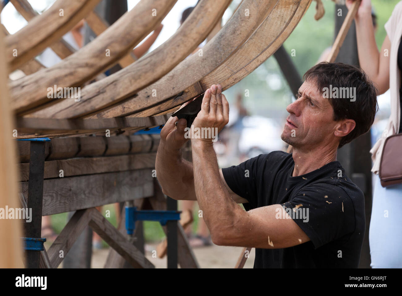 Itsas Kultur Faktoria albaola Bootsbauer - USA Stockbild