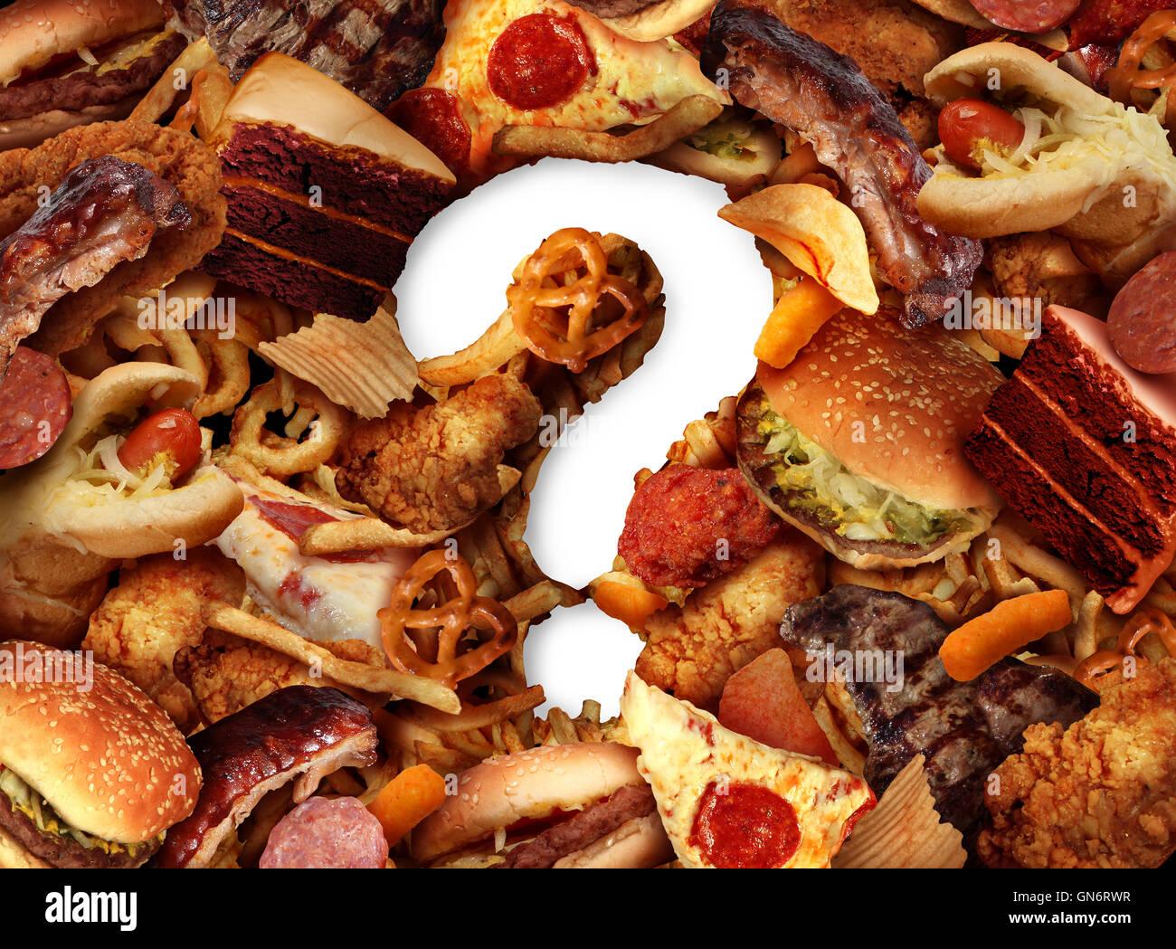 Ungesunde Lebensmittel Wahl Konzept und Diät Fragen Konzept und Ernährung sorgen mit fettig gebratene Stockbild