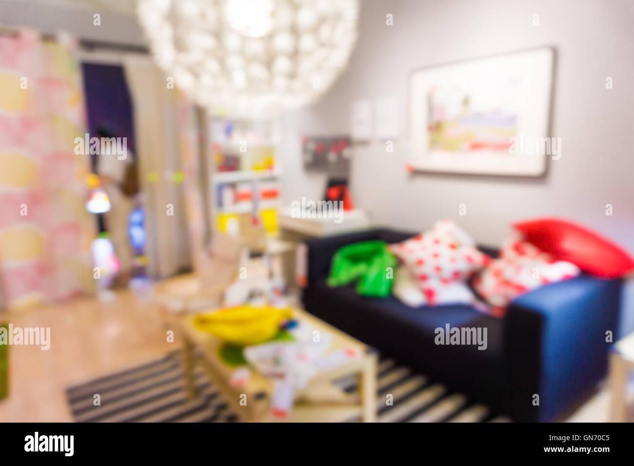 Der Hintergrund jedoch unscharf Wohnzimmer, Möbel im Zimmer ...