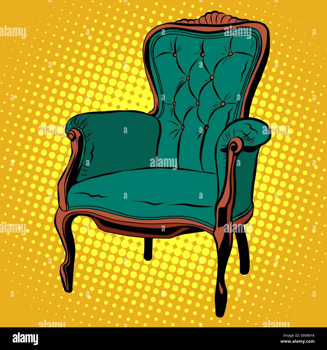Grunen Weichen Stuhl Mobel Sessel Vektor Vektor Abbildung Bild