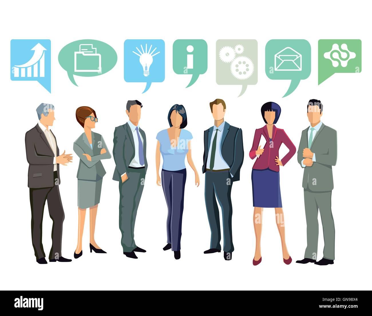 Zusammen, Business-Ideen Stockbild