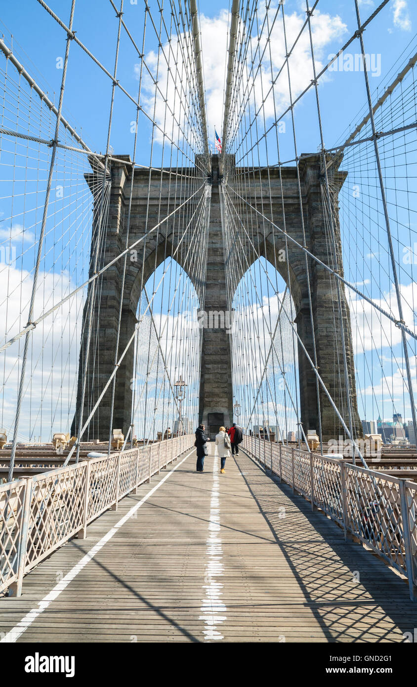 Brooklyn Bridge Stockbild