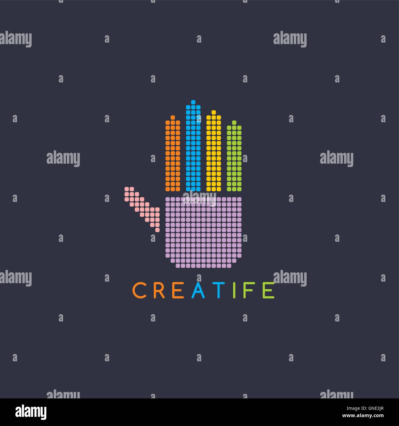 Hand Human Index Icon Vector Stockfotos & Hand Human Index Icon ...