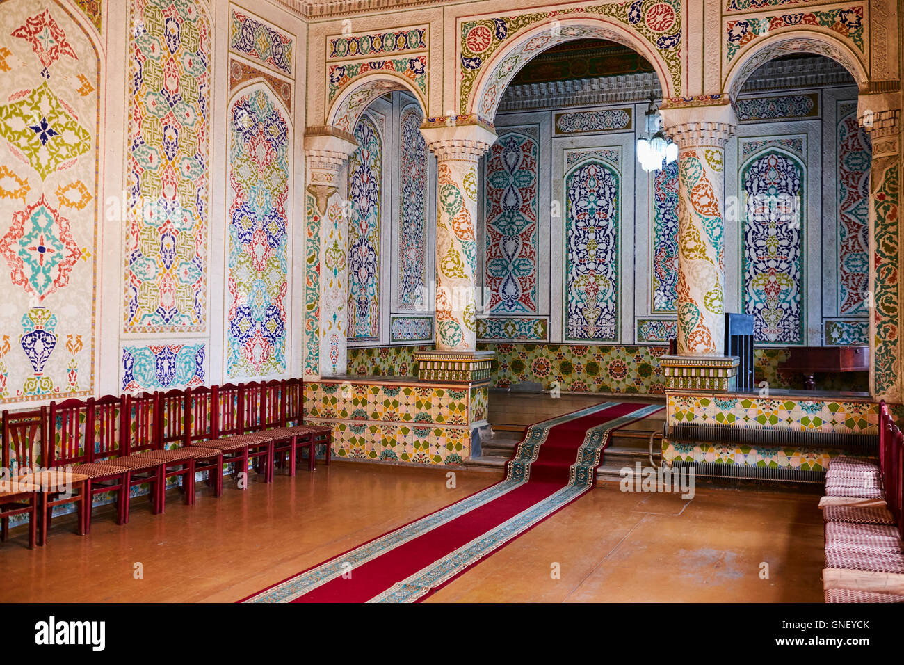 Usbekistan, Samarkand, Unesco Welterbe, Samarkand Regional Museum der Heimatkunde, jüdisches Museum, Präsidentenresidenz Stockbild