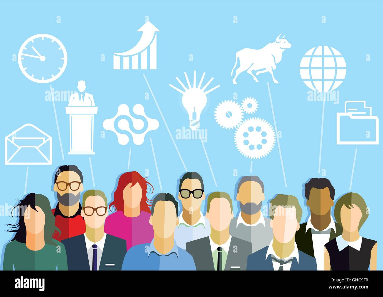 Menschen mit Ideen und Phantasie Stockbild