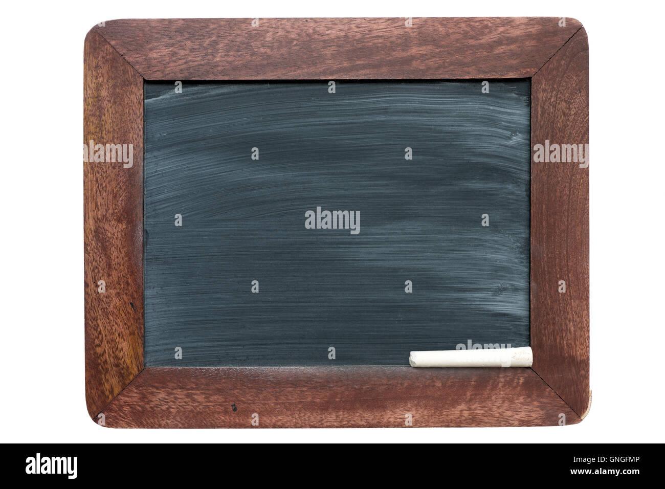 aus Holz gerahmte Vintage Schultafel mit Schwamm Flecken Muster und ...