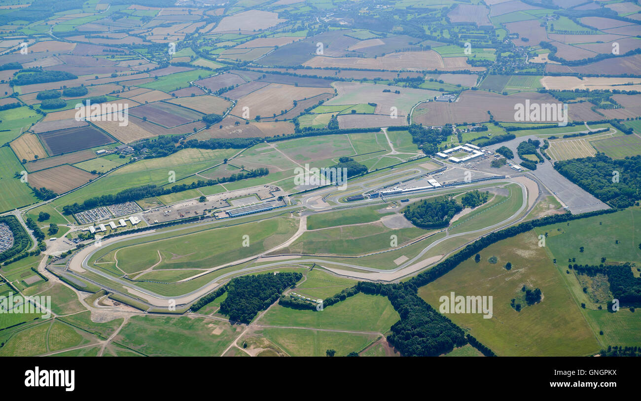 Donnington Park, Motorsport-Rennstrecke, East Midlands, England, UK Stockbild