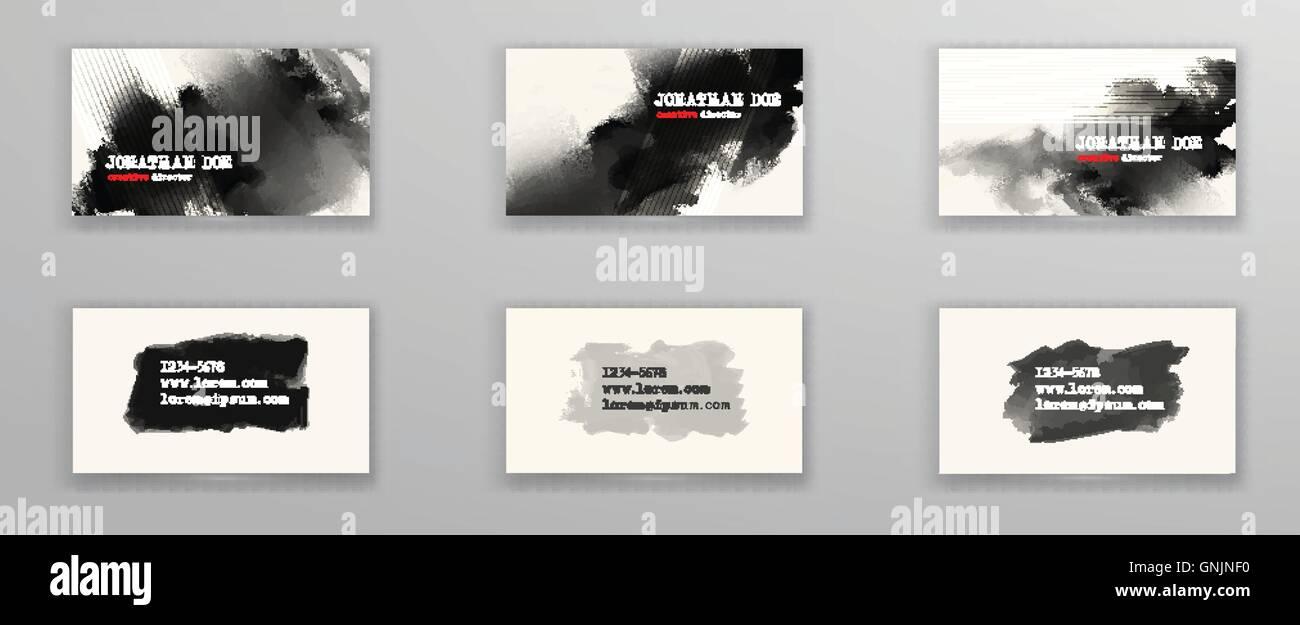 Kreative Visitenkarten Vorlagen Vektor Abbildung Bild