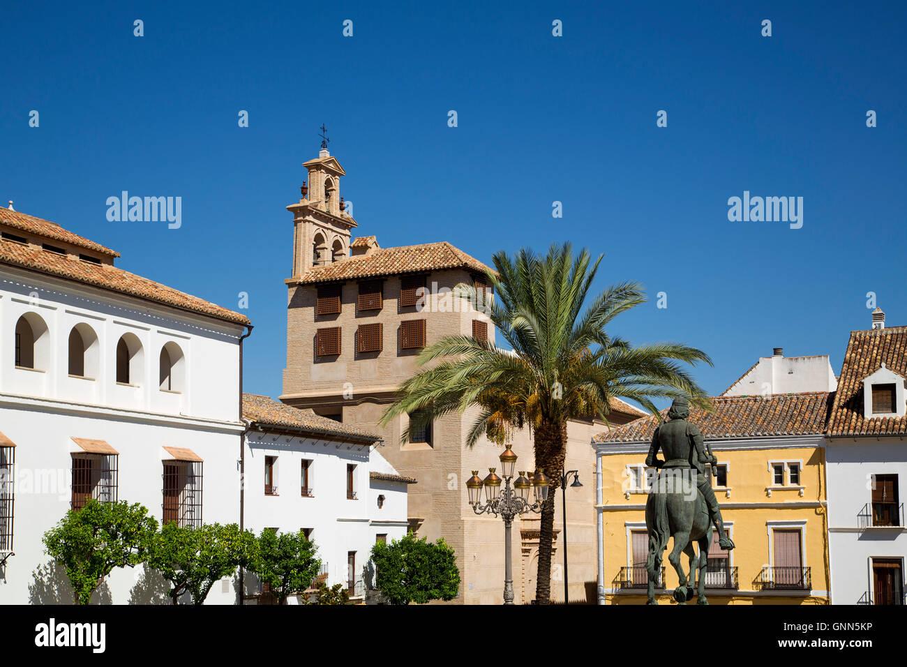 Plaza Coso Viejo, Antequera, Provinz Malaga Costa del Sol Andalusien Süd, Spanien Europa Stockbild