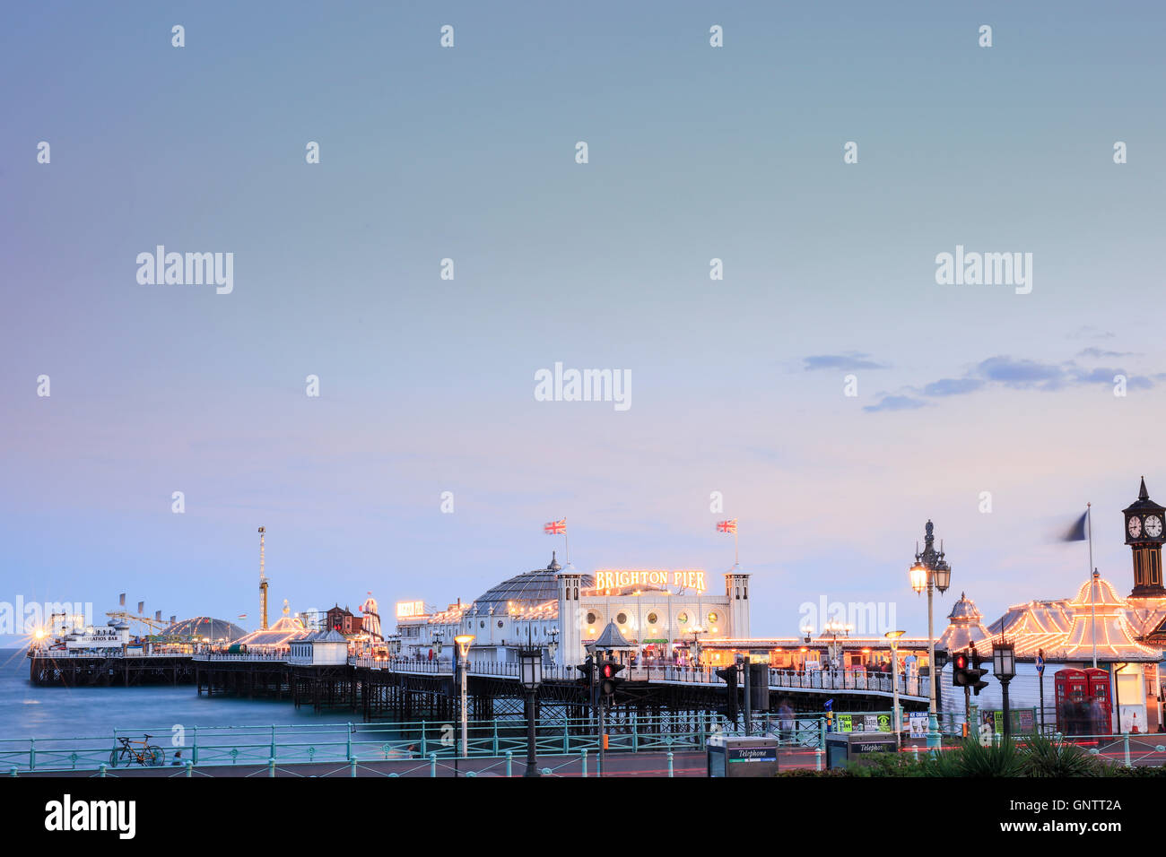 Brighton (Palast) Pier in Brighton, East Sussex Stockbild