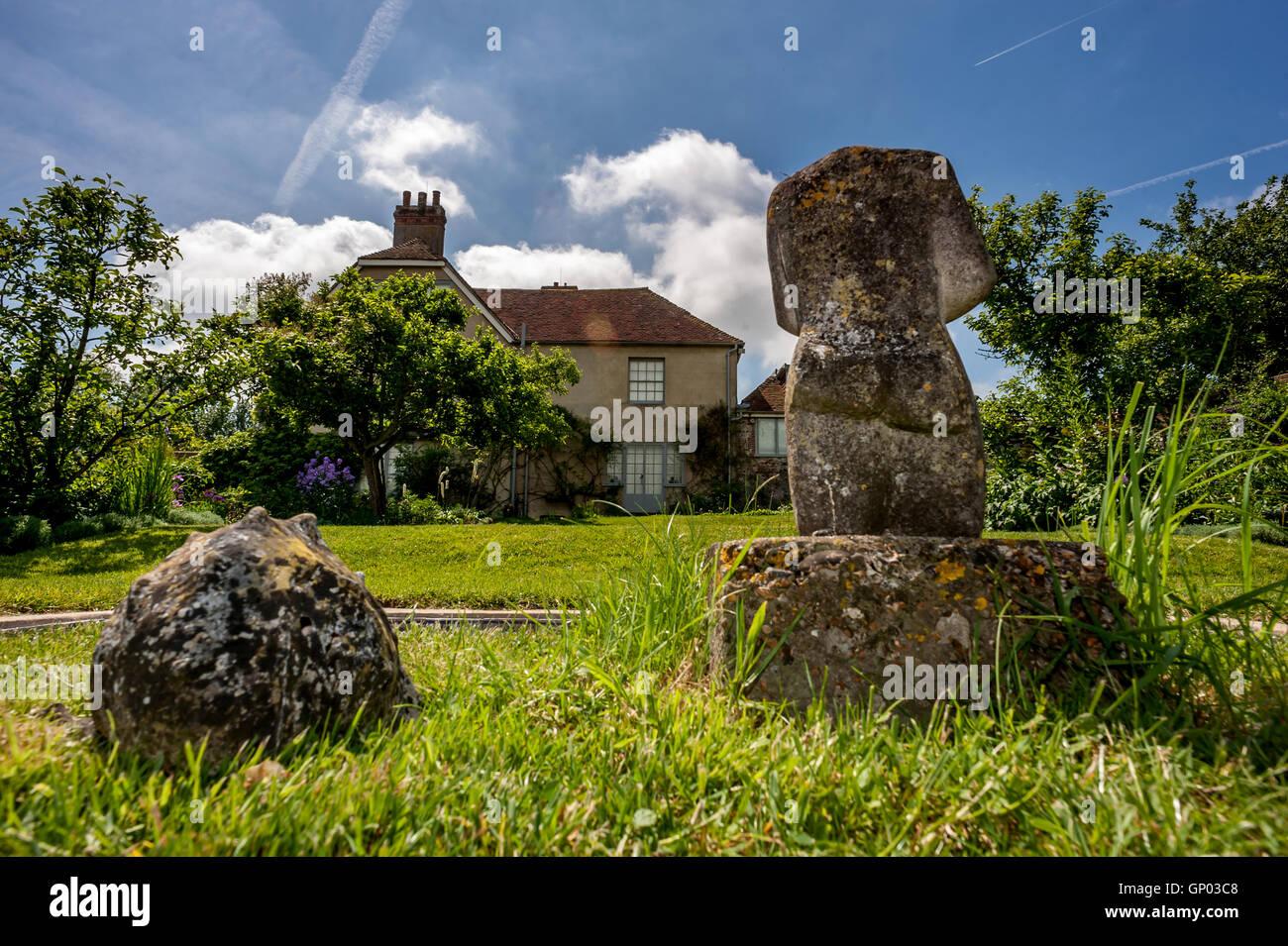 Charleston Farmhouse, die Heimat der Bloomsbury Group in East Sussex. Stockfoto