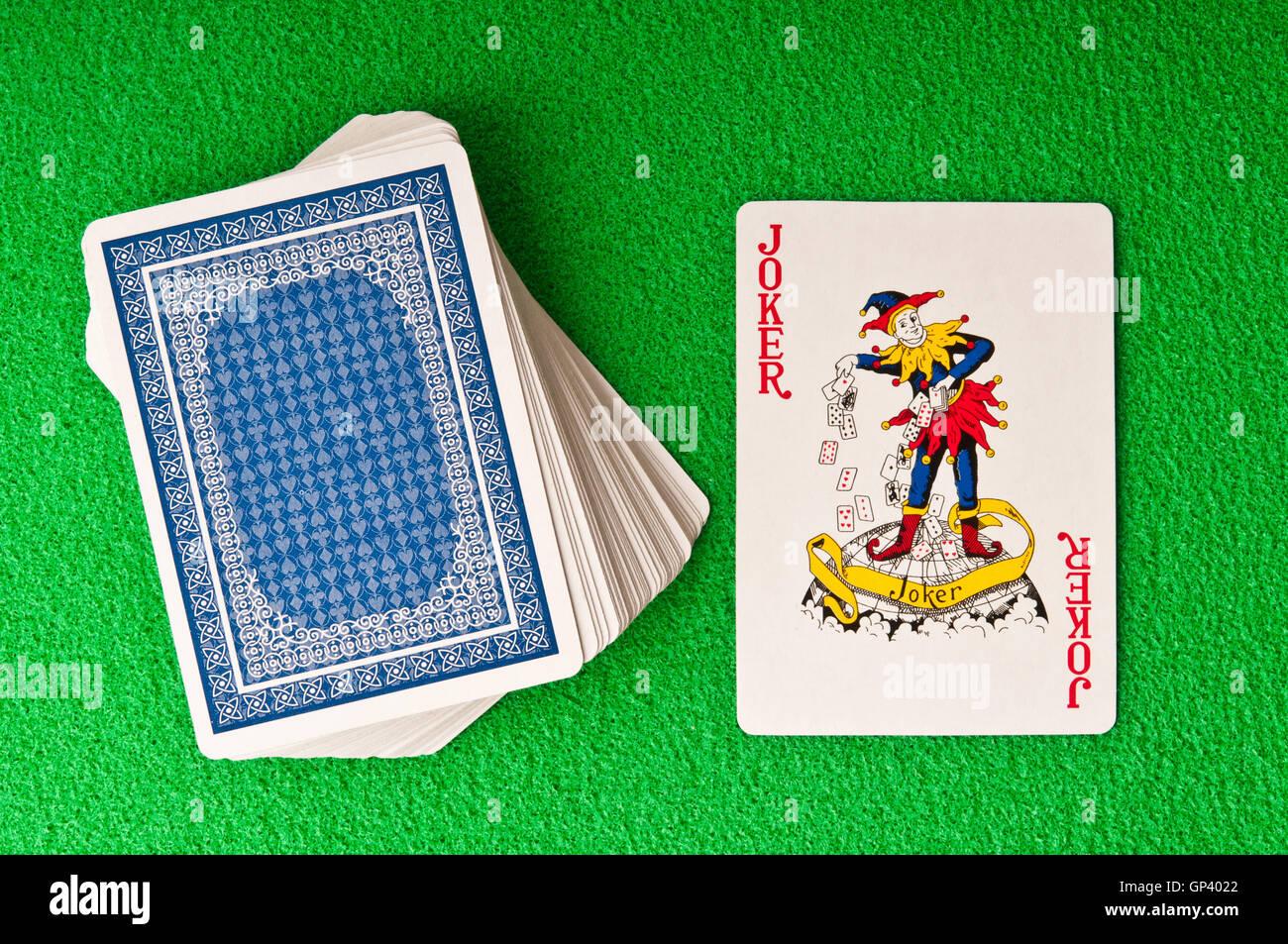 Spielkarte Joker Stockbild