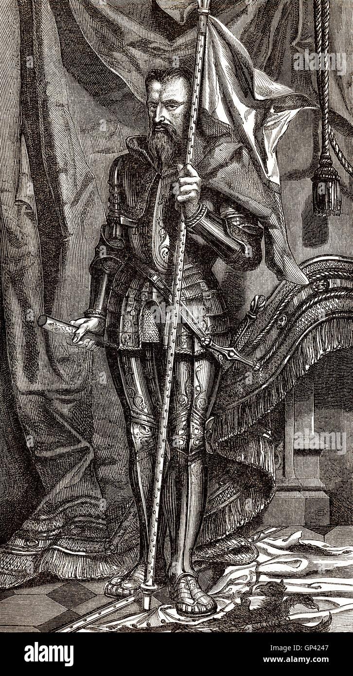 Heinrich i., Fürst von Joinville, Herzog von Guise, Graf von Eu, Le Balafré oder genannt Scarface, 1550 Stockbild