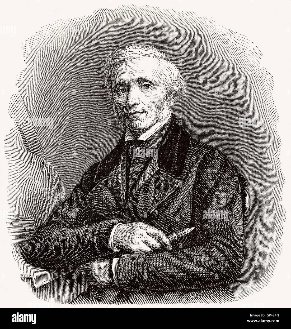 Louis Hersent, 1777-1860, französischer Maler Stockbild