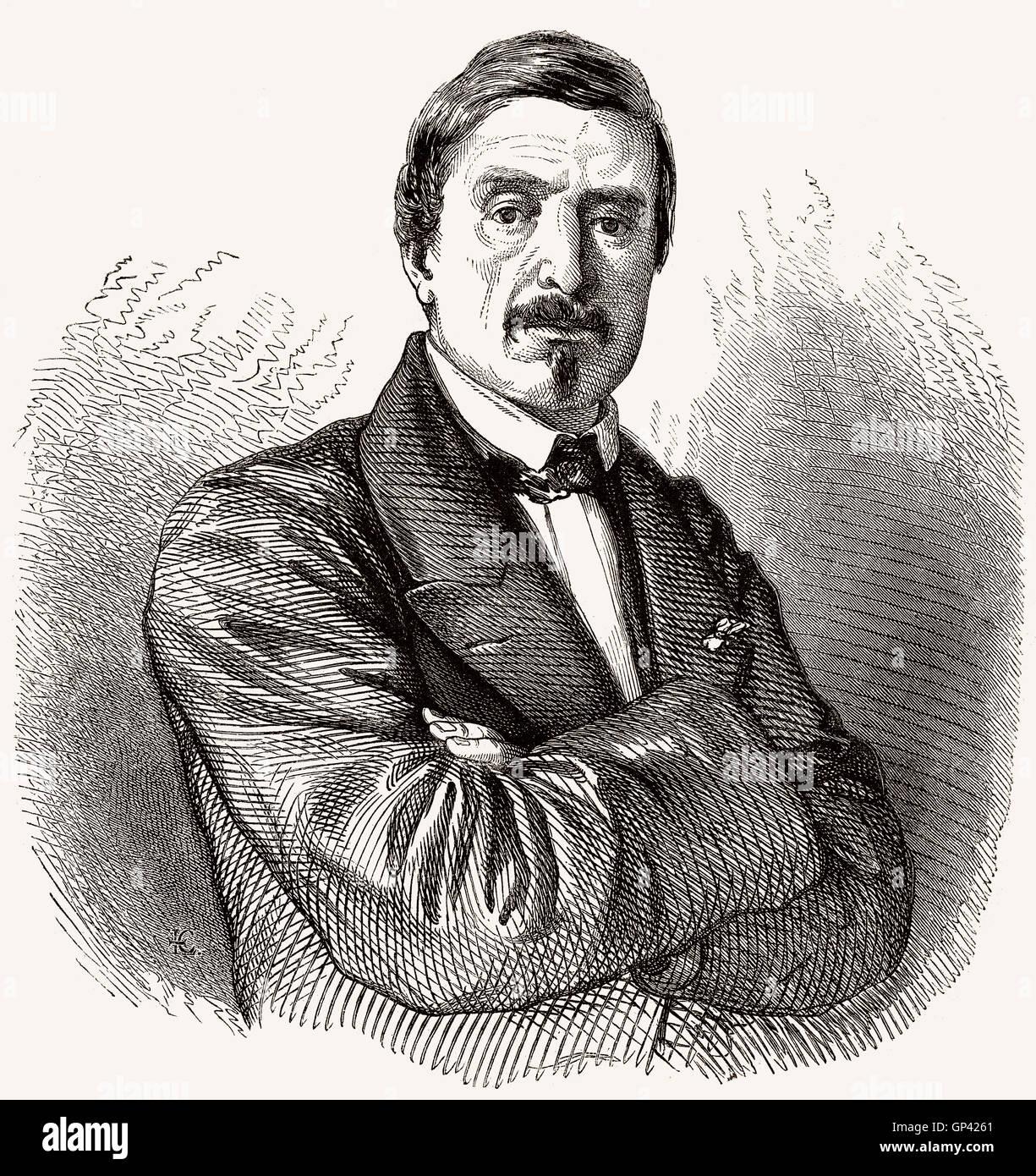 Denis Auguste Marie Raffet, 1804-1860, ein französischer Zeichner und Lithograph Stockbild