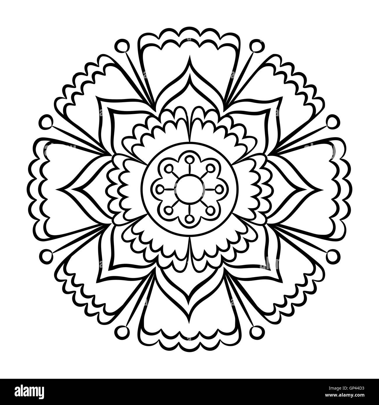 Wunderbar Blumen Mandala Malvorlagen Fortgeschrittene Ebene ...