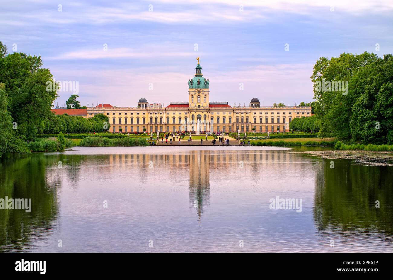 Königliche Schloss Charlottenburg In Berlin Deutschland Ansicht
