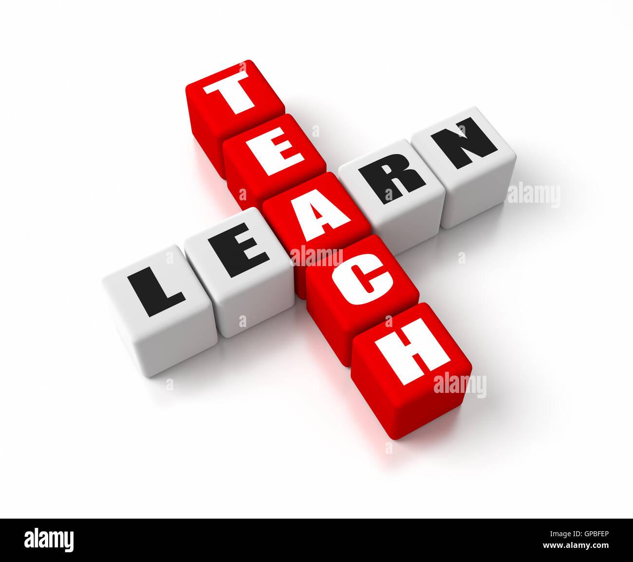 Lehren, lernen Stockbild