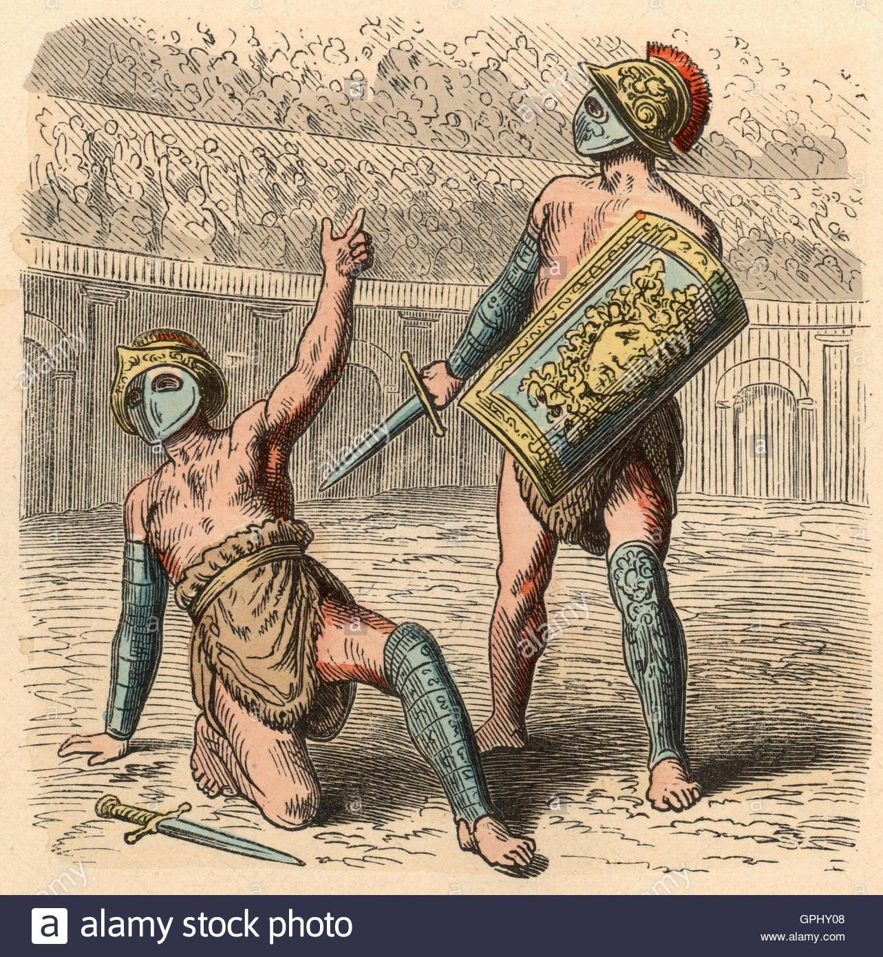Ancient roman gladiators