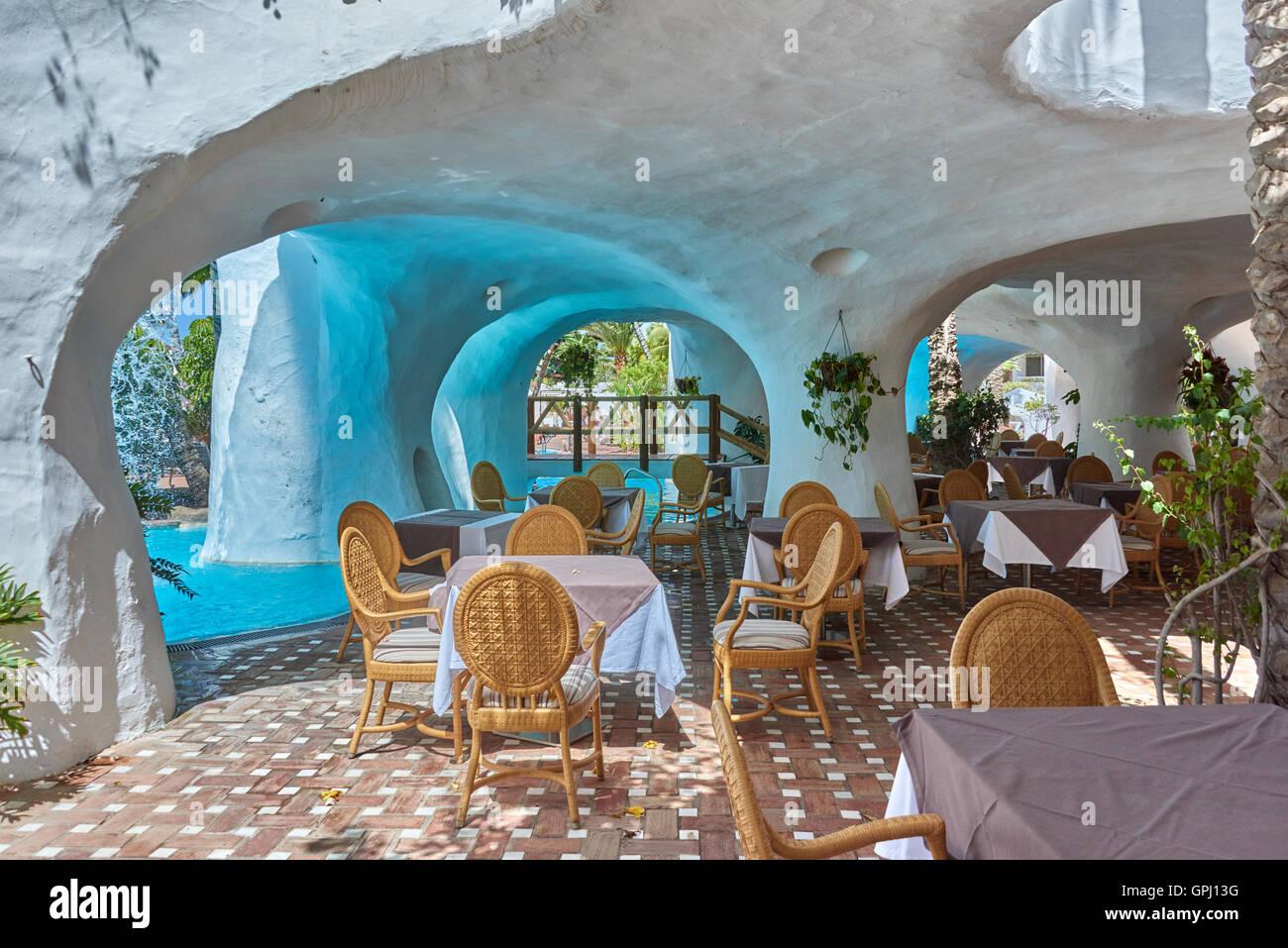Hotel Jardin Tropical, Costa Adeje Teneriffa Stockfoto, Bild ...