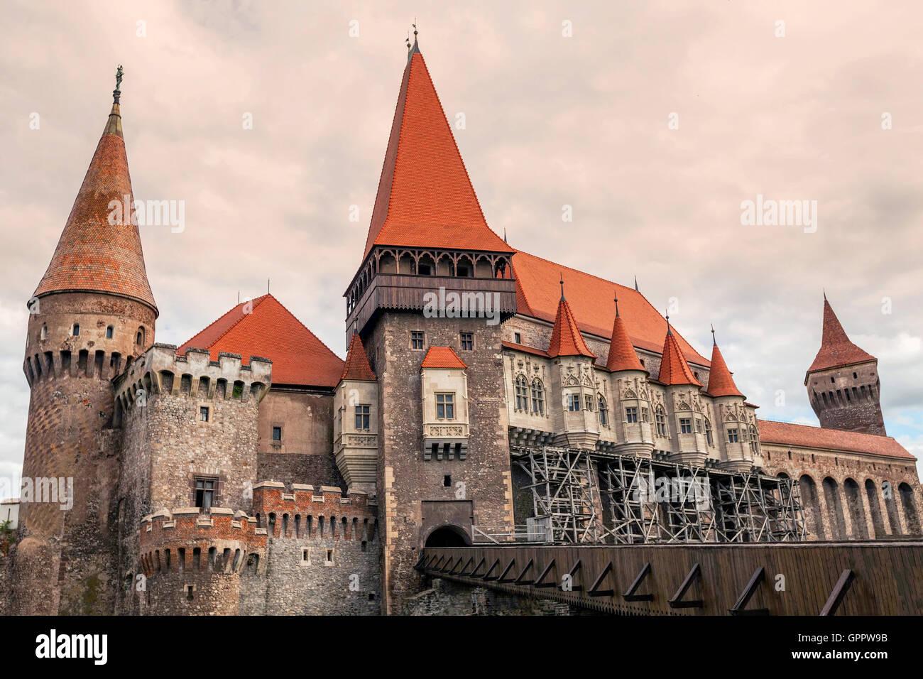 Das Jagdwochenenden Schloss auch bekannt als Hunyad Schlosses ist eine gotisch-Renaissance-Schloss In Hunedoara, Stockbild