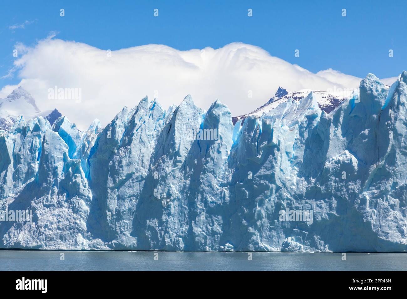 Perito Moreno Gletscher, Argentinien Stockbild