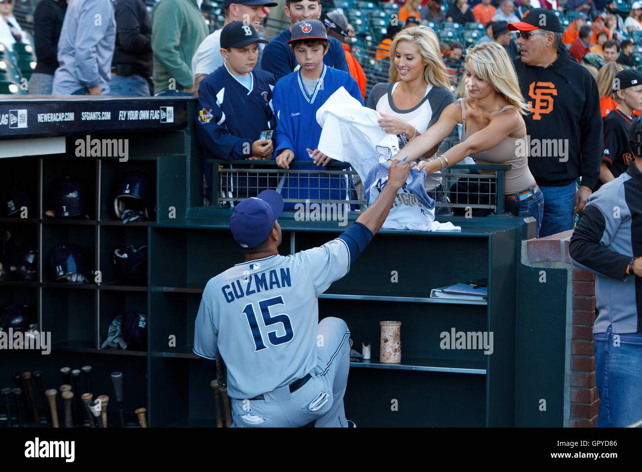San Francisco Giants 2014 Weltmeister Spieler Autogramme Herren T-shirt Baseball & Softball