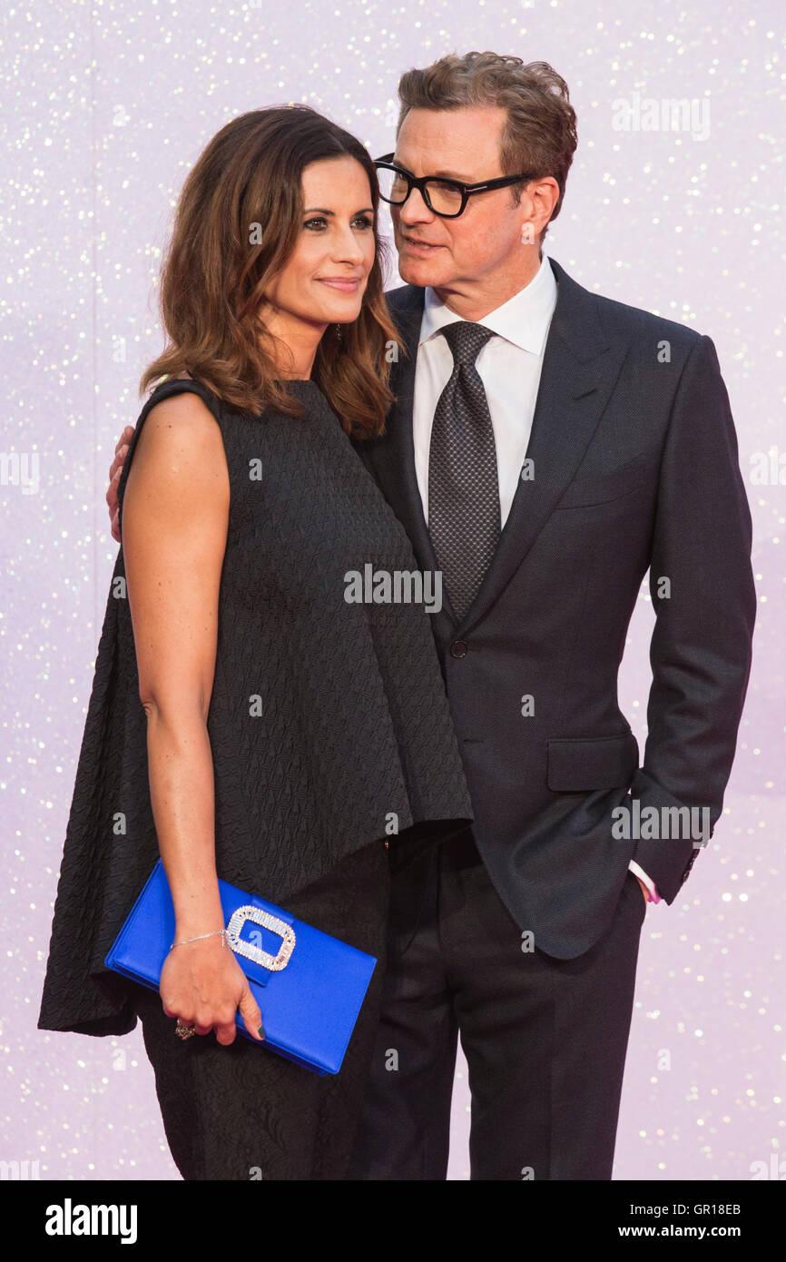 London, UK. 5. September 2016. Livia Giuggioli und Colin Firth. VIP roten Teppich für die Welt-Premiere von dem Stockfoto