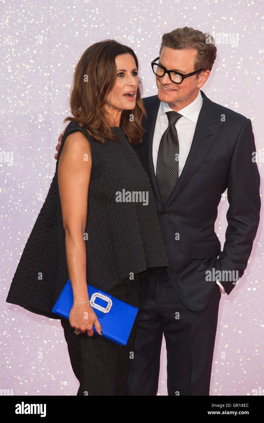 London, UK. 5. September 2016. Livia Giuggioli und Colin Firth. VIP roten Teppich für die Welt-Premiere von Stockbild