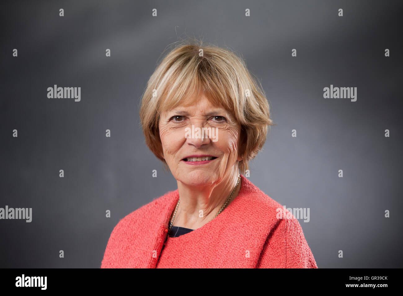 Joan Bakewell, DBE, der britische Autor, Journalist, TV-Moderatorin und Labour Party Peer, auf dem Edinburgh International Stockbild