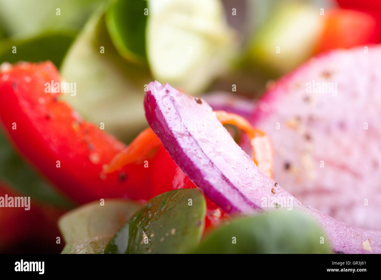 Salat Zutaten Stockbild