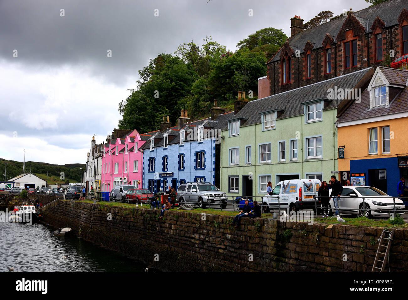 Schottland, die Inneren Hebriden, Isle Of Skye, Stadt von Portree ...