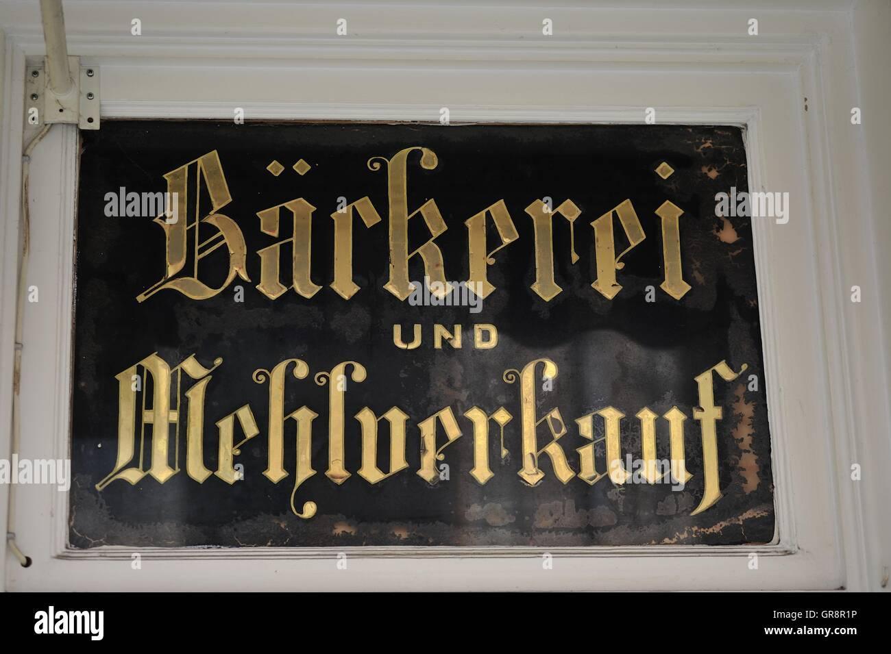 Bäckerei Nostalgieschild Hof