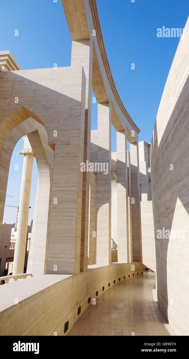 Architektonische Besonderheit im Museum von Scheich Faisal Stockfoto