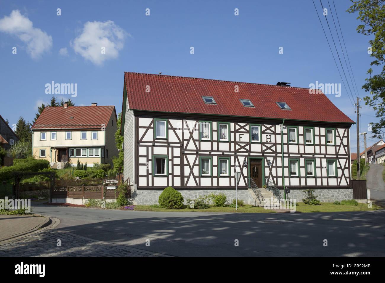 Modernisiertes Fachwerkhaus In Stiege, Harz, Sachsen-Anhalt ...