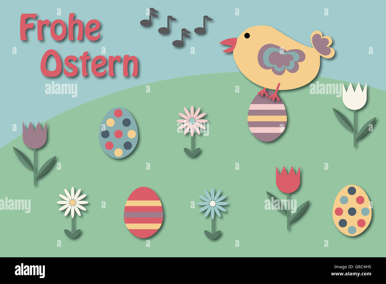 Ostern Grußkarte Stockbild